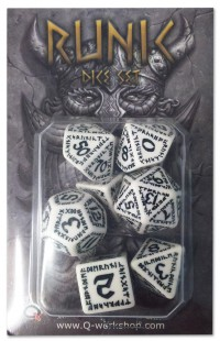 Runic Dice White/Black (7)