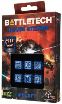 Battletech House Steiner D6 Dice set (6) – Bild 1