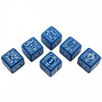 Battletech House Steiner D6 Dice set (6) – Bild 2
