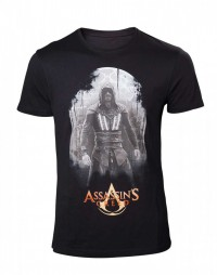 Assassins Creed Movie Mens T-Shirt Aguilar on Black 2XL