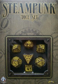 Steampunk Dice Brown/Yellow (7 Stk.)